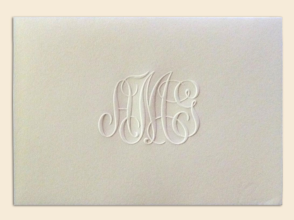 Blind embossed folded card