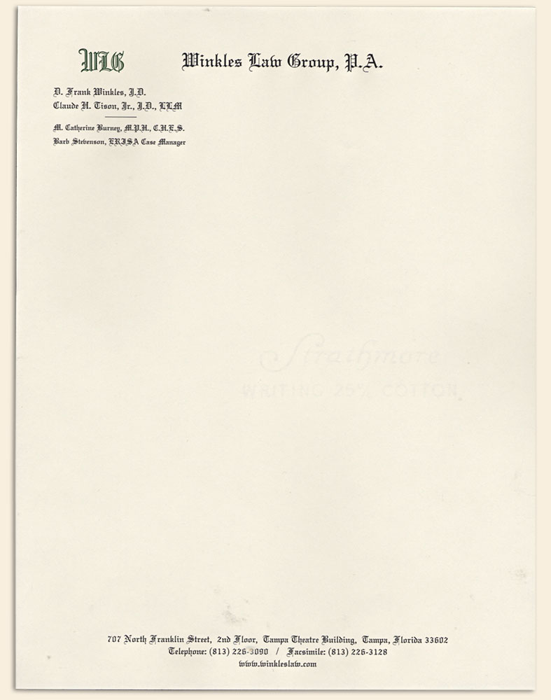 Bradley Engraved Stationery Business Stationery Letterhead – Personal Letterhead