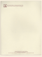 Monarch Engraved Letterhead