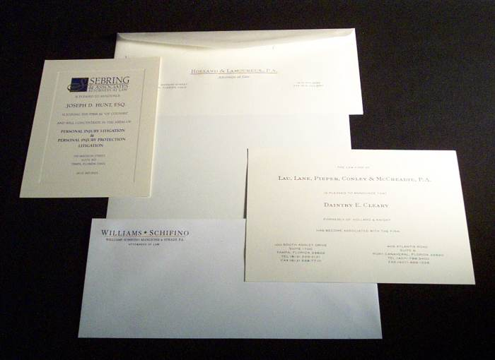 Bradley Engraved Stationery :: Business Stationery
